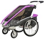 Chariot Cougar Stroller - Sport Series - 1 Child - Purple/Silver/Gray - Newborn and Older