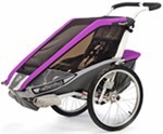 Chariot Cougar Bike Trailer and Stroller - 1 Child - Purple/Silver/Gray - 12 Months and Older
