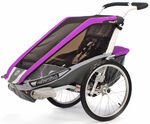 Chariot Cougar Skiing and Walking Stroller - 1 Child - Purple/Silver/Gray - 6 Months and Older