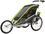 Chariot Cougar Jogging and Walking Stroller - 1 Child - Avocado/Silver/Gray - 6 Months and Older