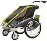 Chariot Cougar Stroller - Sport Series - 1 Child - Avocado/Silver/Gray - Newborn and Older