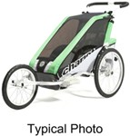 Chariot Cheetah Jogging Stroller - Sport Series - 2 Child - Green/Black/Silver - 6 Months and Older