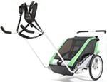 Chariot Cheetah Hiking and Walking Stroller - 2 Child - Green/Black/Silver - 6 Months and Older
