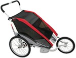 Chariot Cougar Jogging and Walking Stroller - 2 Child - Red/Silver/Gray - 6 Months and Older
