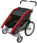 Chariot Cougar Stroller - Sport Series - 2 Child - Red/Silver/Gray - Newborn and Older