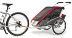 Chariot Cougar Bike Trailer and Stroller - 2 Child - Red/Silver/Gray - 12 Months and Older