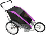 Chariot Cougar Jogging and Walking Stroller - 2 Child - Purple/Silver/Gray - 6 Months and Older