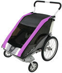 Chariot Cougar Stroller - Sport Series - 2 Child - Purple/Silver/Gray - Newborn and Older