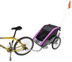 Chariot Cougar Bike Trailer and Stroller - 2 Child - Purple/Silver/Gray - 12 Months and Older