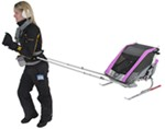 Chariot Cougar Skiing and Walking Stroller - 2 Child - Purple/Silver/Gray - 6 Months and Older