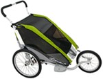 Chariot Cougar Jogging and Walking Stroller - 2 Child - Avocado/Silver/Gray - 6 Months and Older