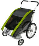 Chariot Cougar Stroller - Sport Series - 2 Child - Avocado/Silver/Gray - Newborn and Older