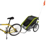 Chariot Cougar Bike Trailer and Stroller - 2 Child - Avocado/Silver/Gray - 12 Months and Older