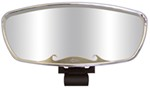 "CIPA Wave Rearview Boat Mirror - Convex - Round Windshield Mount - 17"" x 7"" - Chrome"