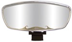 "CIPA Wave Rearview Boat Mirror - Convex - Square Windshield Mount - 17"" x 7"" - Chrome"