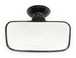 "CIPA Rearview Boat Mirror - Convex Glass - Suction Cup Mount - 8"" Long x 4"" Wide"