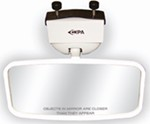 "CIPA Concept II Rearview Boat Mirror - Convex Glass - Windshield Mount - 8"" x 4"" - White"