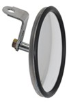 "CIPA Round, Convex HotSpot Mirror - Bolt On - 5"" Diameter - Stainless Steel - Qty 1"