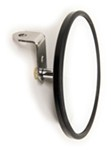 "CIPA Round, Convex HotSpot Mirror - Bolt On - 6"" Diameter - Black - Qty 1"