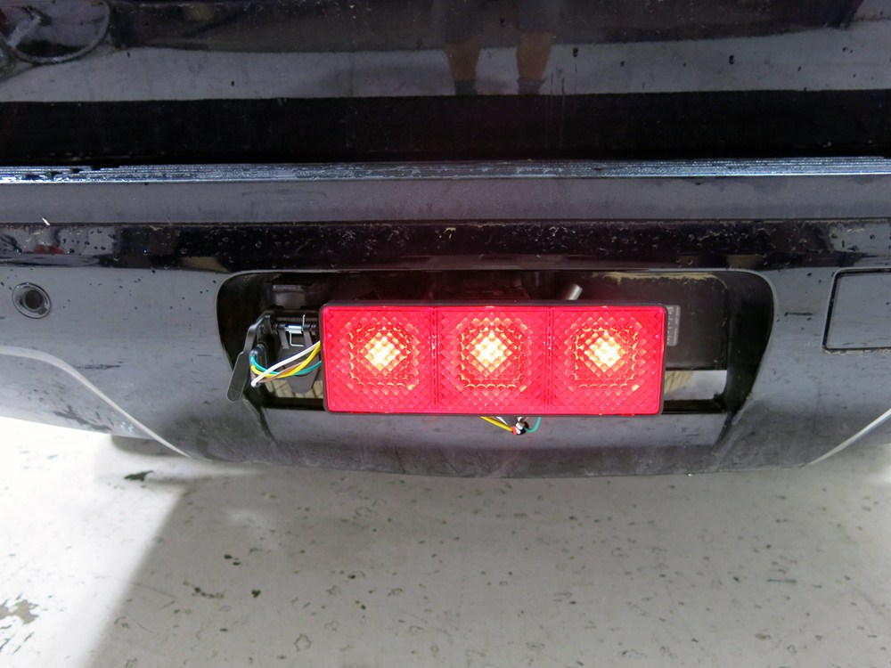 bully light up rectangular trailer hitch receiver cover brake tail turn. Black Bedroom Furniture Sets. Home Design Ideas