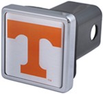 "Tennessee Volunteers NCAA Logo 2"" Trailer Hitch Cover - Square, Chrome"