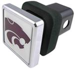 "Kansas State Wildcats NCAA Logo 2"" Trailer Hitch Cover - Square, Chrome"