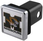 "University of Missouri Tigers NCAA Logo 2"" Trailer Hitch Cover - Square, Chrome"