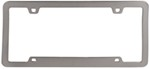 Neo Sport License Plate Frame - Brushed Nickel