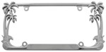 Palm Tree License Plate Frame - Chrome
