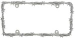 Barbed Wire-II License Plate Frame - Chrome