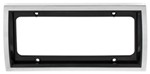 Curve License Plate Frame - Chrome/Black
