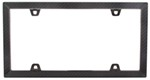 Carbon Fiber-II License Plate Frame - Black Chrome and Carbon Fiber