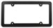 Carbon Fiber License Plate Frame - Carbon Fiber and Chrome