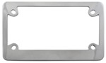 Classic Motorcycle License Plate Frame - Chrome