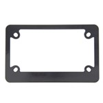 Classic Motorcycle License Plate Frame - Black