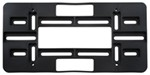 Cruiser Accessories License Plate Mounting Plate - Black