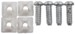 Steel Fasteners for License Plates and Frames - Steel - Standard - Qty 4