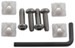 Cruiser Accessories Locking Star Pin Fasteners for License Plates - Stainless - Standard - Qty 4