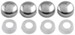 Fastener Caps for License Plates - Chrome - Qty 4