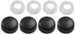 Fastener Caps for License Plates - Black - Qty 4