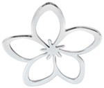 3d-Cal Plumeria Vehicle Decal - Chrome