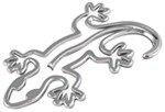 3d-Cal Gecko Vehicle Decal - Chrome