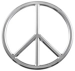 3d-Cal Peace Vehicle Decal - Chrome