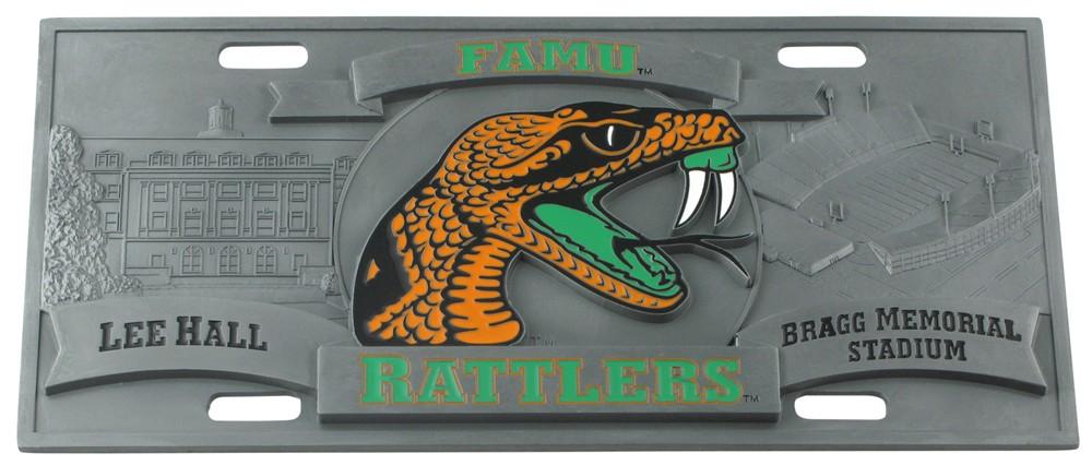 license plates collegiate collegiate d i florida am full plate metal