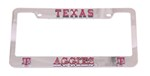 Texas A&M Aggies 3D Collegiate License Plate Tag Frame