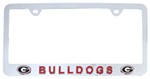 Georgia Bulldogs NCAA 3-D License Plate Frame - Chrome-Plated Steel