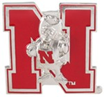 "Nebraska Cornhuskers 2"" NCAA Trailer Hitch Receiver Cover - Zinc"