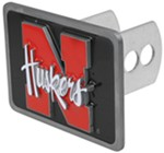 "Nebraska ""Huskers"" Trailer Hitch Receiver Cover"