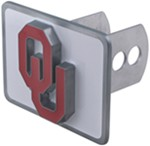 "Oklahoma Sooners ""OU"" Logo Receiver Cover for 2"" Trailer Hitches"