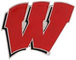 "Wisconsin Badgers 2"" NCAA Trailer Hitch Receiver Cover - Zinc"